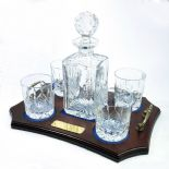 Crystal Decanter Set ref CDT4, Personalised Engraved Decanter and Tray
